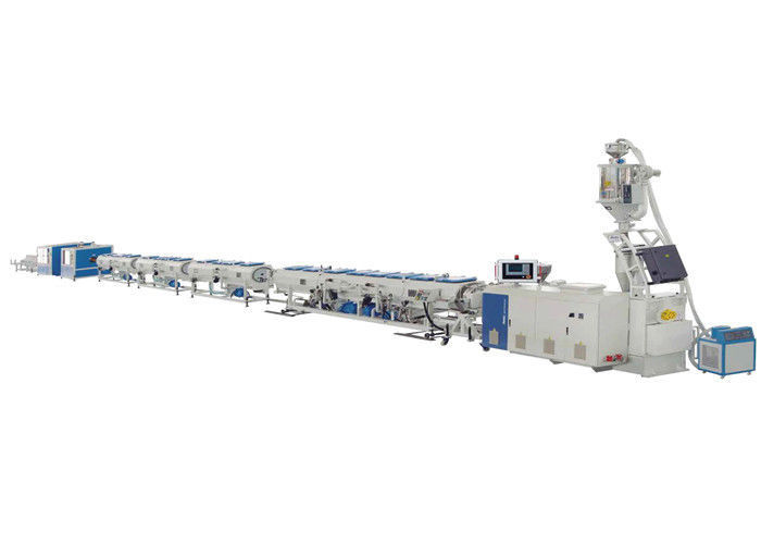 High Speed HDPE Plastic Pipe Extrusion Line For Jwell Gas Supply Pipeline Plastic Machine