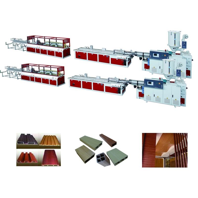 Plastic Recycling WPC Extrusion Line PE / PE Product Outdoor Decorations